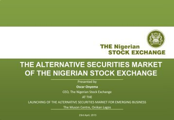 THE ALTERNATIVE SECURITIES MARKET - The Nigerian Stock ...
