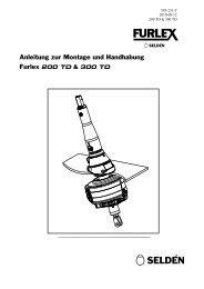 Anleitung zur Montage und Handhabung Furlex 200 TD & 300 TD