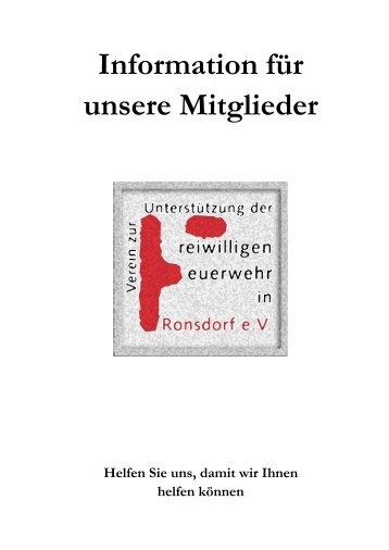Information für unsere Mitglieder - Löschzug Ronsdorf