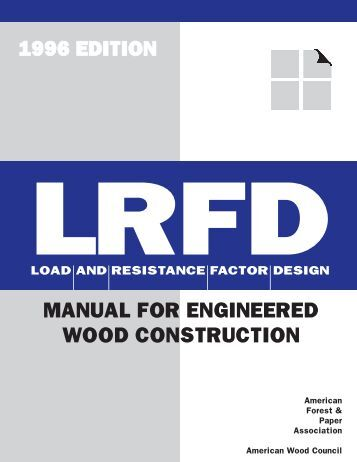 Lrfd Examples For Wood Structures Published American
