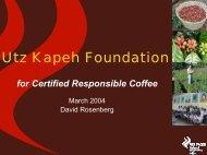 Utz Kapeh Foundation - Duurzaam Ondernemen
