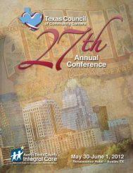 Conference Schedule of Events - Texas Council of Community ...