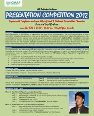 PRESENTATION COMPETITION 2012 - Institute of Cost and ...