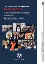 Programmheft 2014 - Mediation DACH eV