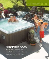 2009 Sundance PreDelivery Guide (All Models) - Champagne Spas