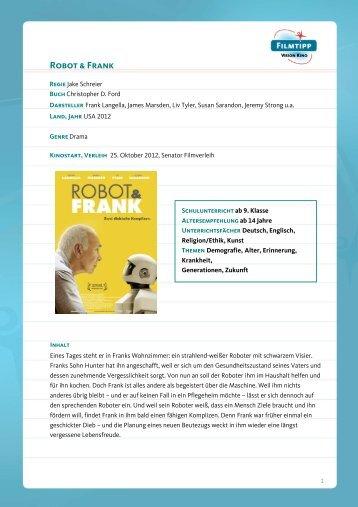 FilmTipp Robot & Frank - Vision Kino