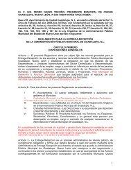 reglamento para la entrega-recepcion - Municipio de Guadalupe