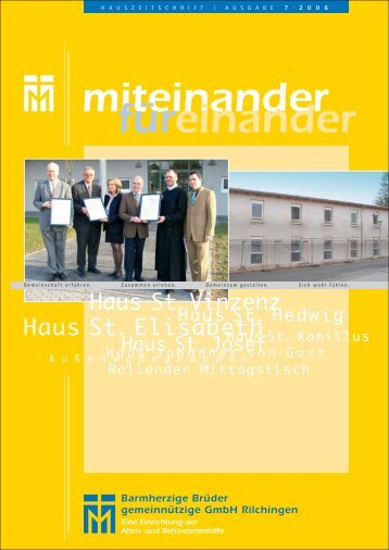 miteinander füreinander - Barmherzige Brüder Trier e. V.