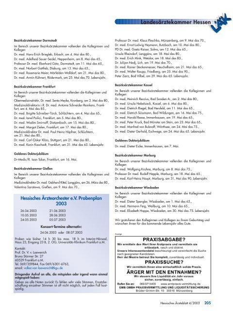 Bekanntmachungen Der Landesarztekammer Hessen