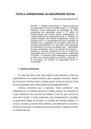 tutela jurisdicional da seguridade social - Tribunal Regional Federal ...