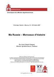 Ma Russie - Mission d'animation des Agrobiosciences