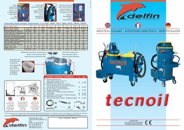 industrial vacuums - aspirateurs industriels ... - weidner.pl