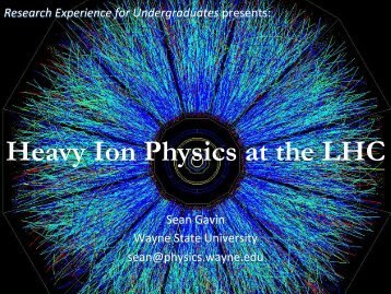 Introduction to High Energy Nuclear Physics - RHIG - Wayne State ...