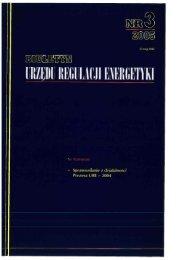SPRAWOZDANIE 2004 'r - Urząd Regulacji Energetyki