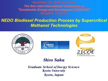 NEDO Biodiesel Production Process by Supercritical Methanol ...