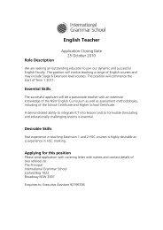 English Teacher - International Grammar School