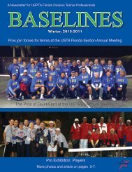 Winter, 2010-2011 - United States Professional Tennis Association