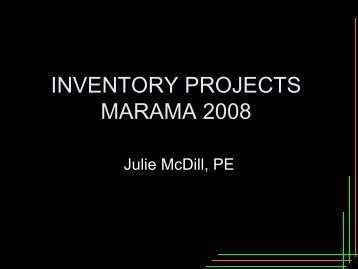 INVENTORY PROJECTS FOR 2008 - MARAMA