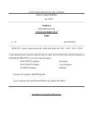 Leggi Delibera n. 79 - Il Parco del Conero