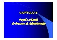 Fayol e a Escola do Processo Administrativo