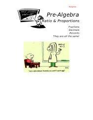 Pre-Algebra - What Not How