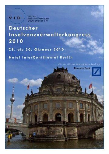 Deutscher Insolvenzverwalterkongress 2010 - Oppenhoff & Partner