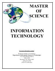 MS/IT booklet - Department of Information Technology - Rochester ...