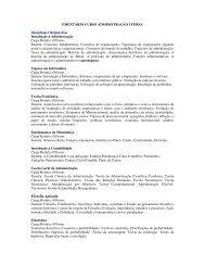 EMENTÁRIO CURSO ADMINISTRAÇÃO UFERSA Disciplinas ...