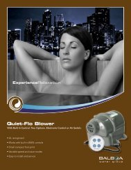 Compact Quiet-Flo Blower with built-in controls - Balboa Water Group