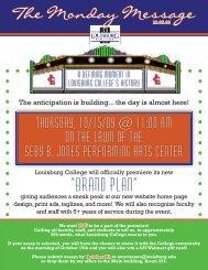 """""""BRAND PLAN"""" - Louisburg College"""