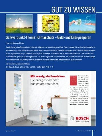 """""""Gut zu wissen""""-Teil als PDF - Natur+Kosmos"""