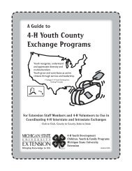 A Guide to 4-H Youth County Exchange Programs - Michigan State ...
