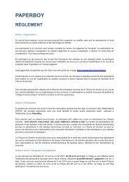 Règlement Paperboydéfx - Tribune de Genève