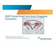QSFP (Quad Small Form-factor Pluggable) Connectors