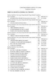 CONCURSO PÚBLICO EDITAL Nº 01/2009 Candidatos Nomeados ...