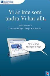 Välkommen till Länsförsäkringar Göinge-Kristianstad