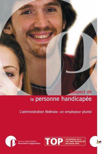 Respect de la personne handicapée (PDF ... - Fedweb - Belgium