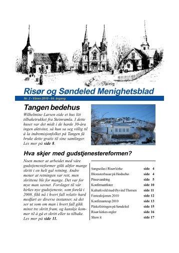 Nummer 2, våren 2010 - Risør kirkelige fellesråd - Den norske kirke