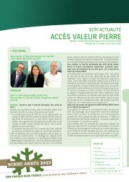 Bulletin trimestriel - Accès Valeur Pierre - Primaliance