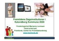 Fremtidens Dagsinstitutioner i Kalundborg Kommune 2020