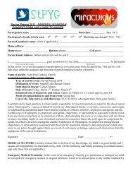 Permission Form - St. Paul's Catholic Church