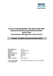 Including the Management of Norovirus - NHS Forth Valley