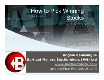 How to Pick Winning Stocks - Colombo Stock Exchange