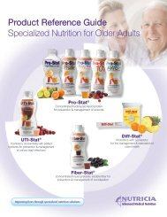 Product Reference Guide Specialized Nutrition for Older Adults