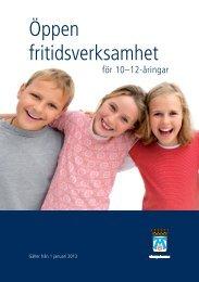 Öppen fritidsverksamhet för 10-12-åringar (pdf ... - Västerås stad