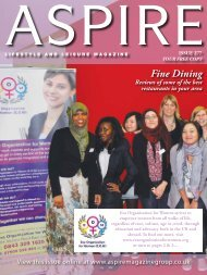 Fine Dining - Aspire Magazine