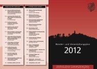 Wanderplan 2012 - beim Schwäbischen Albverein