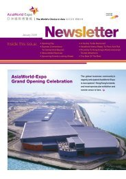 Inside this issue: AsiaWorld-Expo Grand Opening Celebration