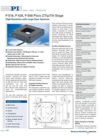 Datasheet 1 - PZT & Piezo Actuators: Sub Nanometer Resolution ...