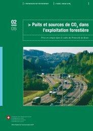 Puits et sources de CO2 dans l'exploitation forestière - Waldwissen.net
